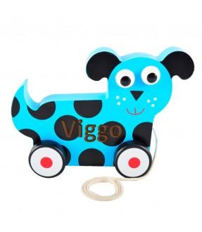 Hund på hjul - Trækdyr med navn fra Magni Id337