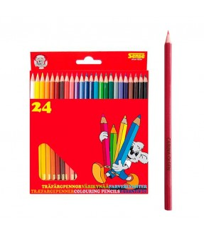 Farveblyanter med navn - 24 stk. fra Sense Id4114