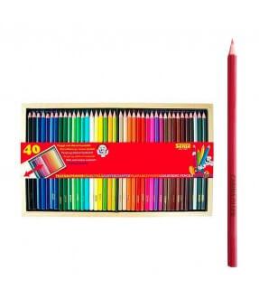Farveblyanter med navn - 40 stk. fra Sense Id4112