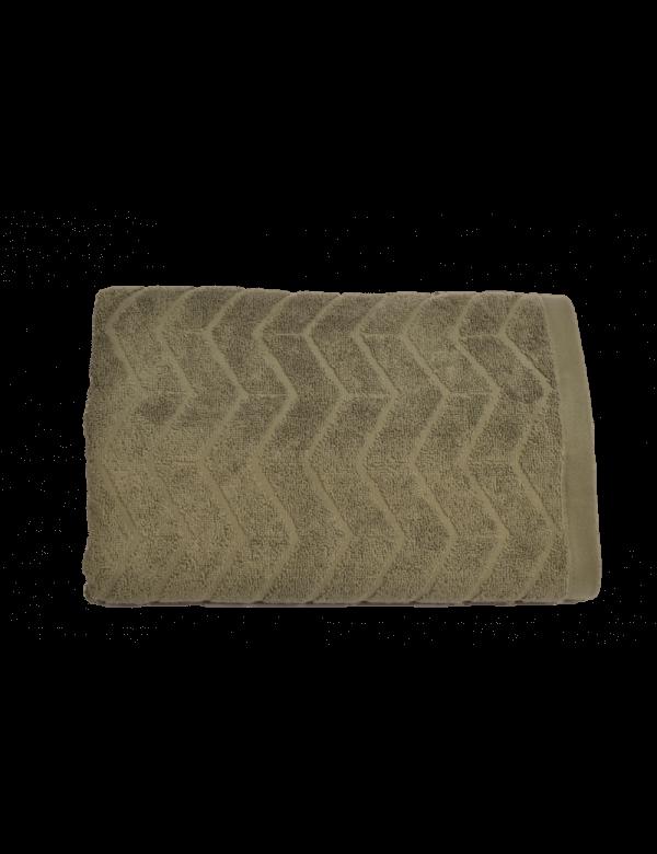 Zig Zag håndklæde med navn - 50 x 70 cm fra Engholm Id2800