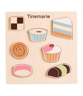 Dessert puslespil med navn fra Kidsconcept Id302