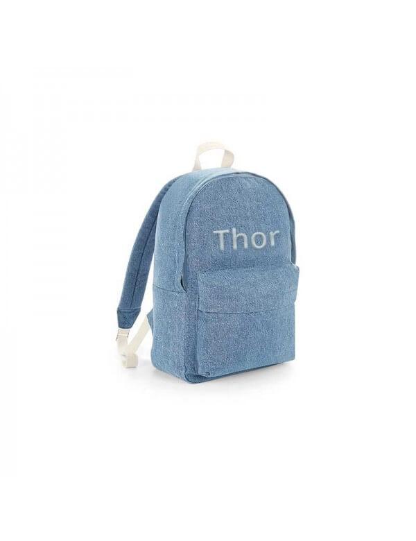Denim rygsæk med navn fra BagBase Id504