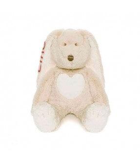 Mellem Teddy Cream grå bamse med navn fra Teddykompaniet Id291