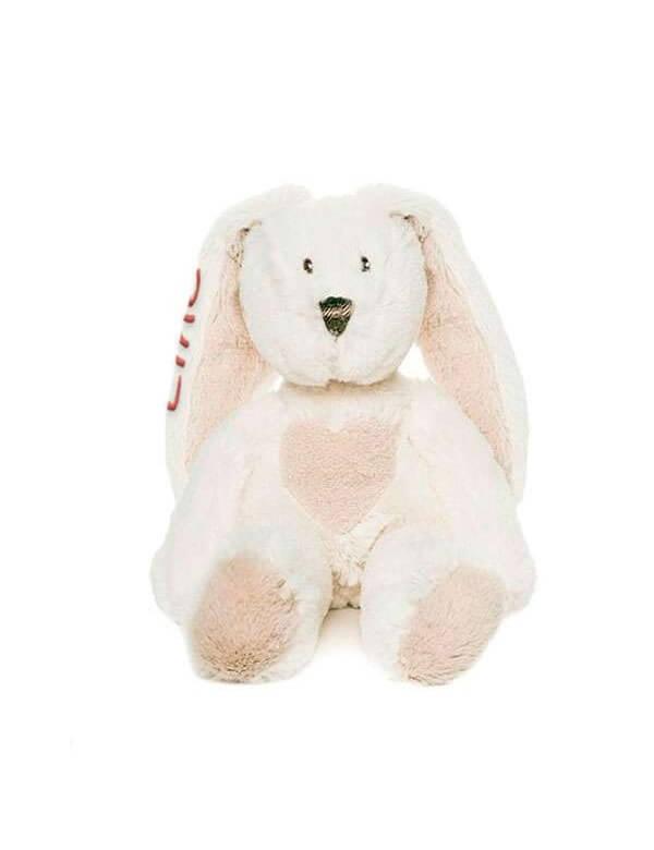 Lille Teddy Cream med navn (Hvid) fra Teddykompaniet Id292