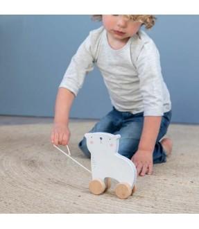 Isbjørn trækdyr fra Little Dutch Id2502