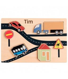 AIDEN puslespil med biler fra Kidsconcept Id307